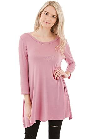 1a0aefac32f Frumos Womens Tunic Tops For Leggings Jersey Top Mauve 3XL at Amazon Women's  Clothing store: