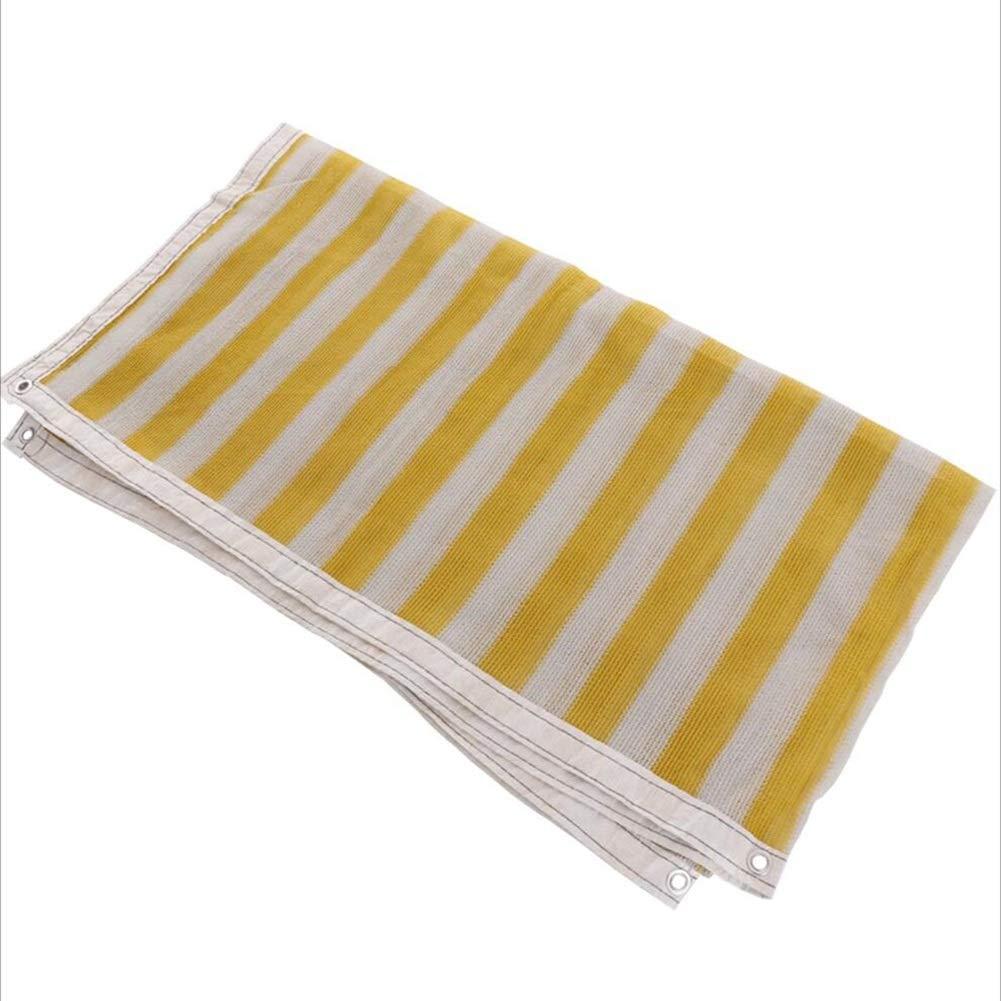 HAIMING Vele Parasole Rete Ombreggiante Shade Net Ombreggiatura Schermo Solare Frangisole Striscia A 3-Pin   6-Pin Circondare Punch Isolamento Balcone (colore   Giallo, Dimensioni   4  7-6)