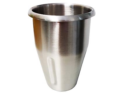 Profesional Mix Taza de acero inoxidable, 900 ml contenido, para batidora MS de 10