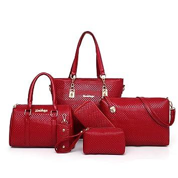 Sencillez elegante de cuero de la PU bolso de mano Tote Bag Bolsos de hombro Satchel ...