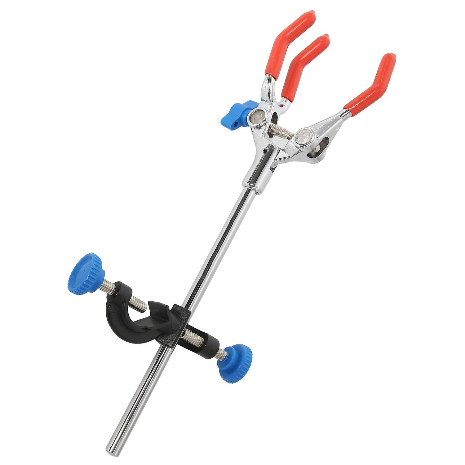 Lab Clamp 3 Prong Finger with Lab Stand Clamp Holder Boss Head