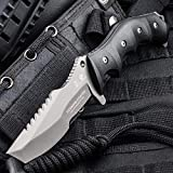 HX Outdoors Fixed Blade Knife with Sheath Tanto Knife Army Survival Knife,Made fo