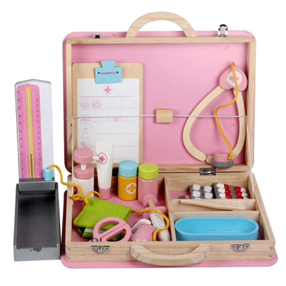 WanNing Medical Doctor Kit Pretend Doctor Play Simulate Wooden Toy Kits for Children