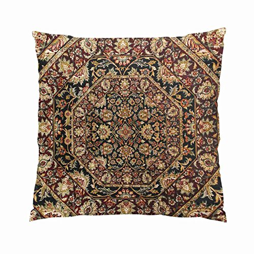 Gygarden Cute Tribal Tapestry Brown Hues Hidden Zipper Home Sofa Decorative Throw Pillow Cover Cushion Case European Square 26X26 Inch Two Sides Design Printed Pillowcase