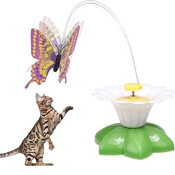 Kisshes Juego de Juguete Butterfly Cat, Divertido Juguete eléctrico Giratorio de Mariposa: Amazon.es: Hogar