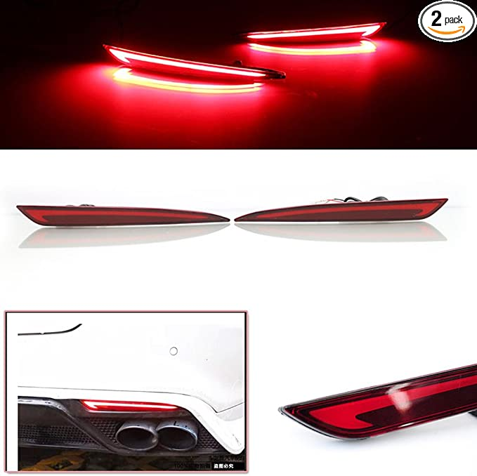 For Ford Fusion Mondeo 2013-2018 Chrome Rear Reflector Fog Light Lamp Cover Trim