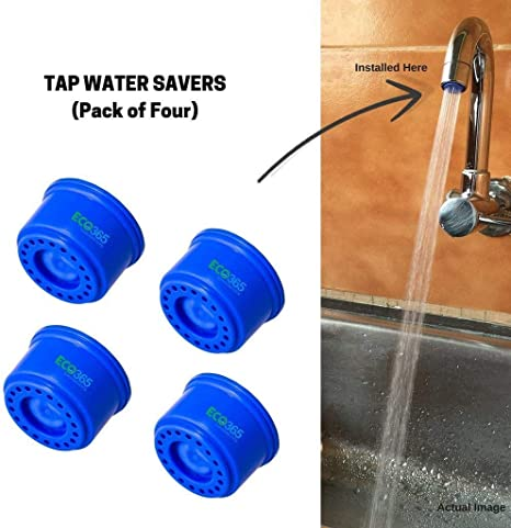 ECO365 Water Saving ABS Kitchen Sink Tap Aerator Filter- 3 LPM- Pack of 4, Blue Color Water Purifier Accessories at amazon