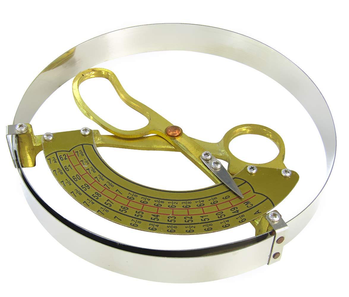 JIAWANSHUN Hat Ruler Aluminum Handle Cap Ruler Scissor Type Ring Compass Inner Diameter Ruler for Adults' Hat (49-62cm) by JIAWANSHUN
