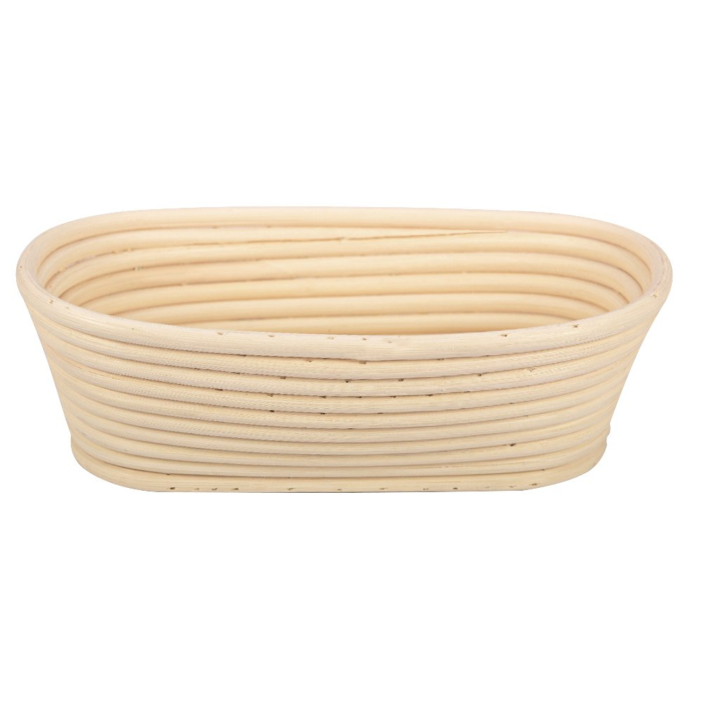 Haneye 10'' Oval Banneton Proofing Basket Set by, Banneton Bread Dough Proofing Rising Rattan Basket with Brotform Cloth Liner for Professional Home Bakers