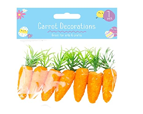 Home Accessories Easter 7 x Mini Carrots Bunny Egg Hunt Bonnet Craft Decoration Accessories Easter