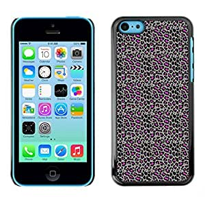 PatternViking PC Polycarbonate Aluminium Back Case Cover Apple iPhone 5C ( leopard print )