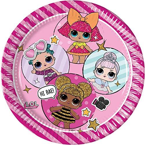 Lol Surprise Pack 8 platos cartón 23 cm