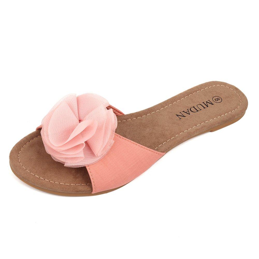 019e5265ffa MuDan Women s Floral Flat Sandals SNA