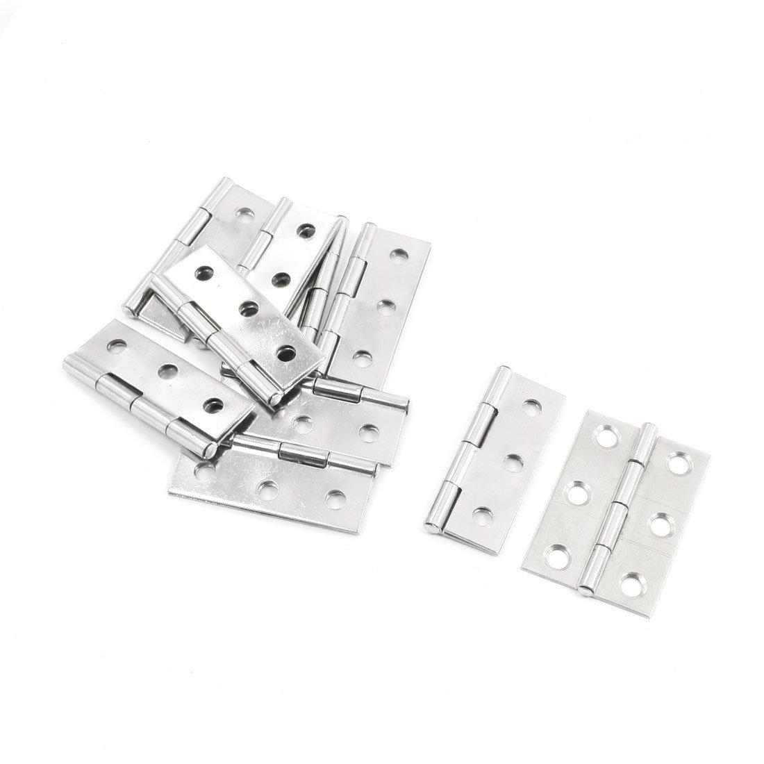 Onwon 10 Pcs Folding Butt Hinges Silver Tone Home Furniture Hardware Door Hinge VNDEFUL