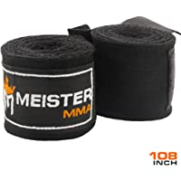 """Meister Junior 108"""" Elastic Cotton Hand Wraps for MMA & Boxing (Pair)"""