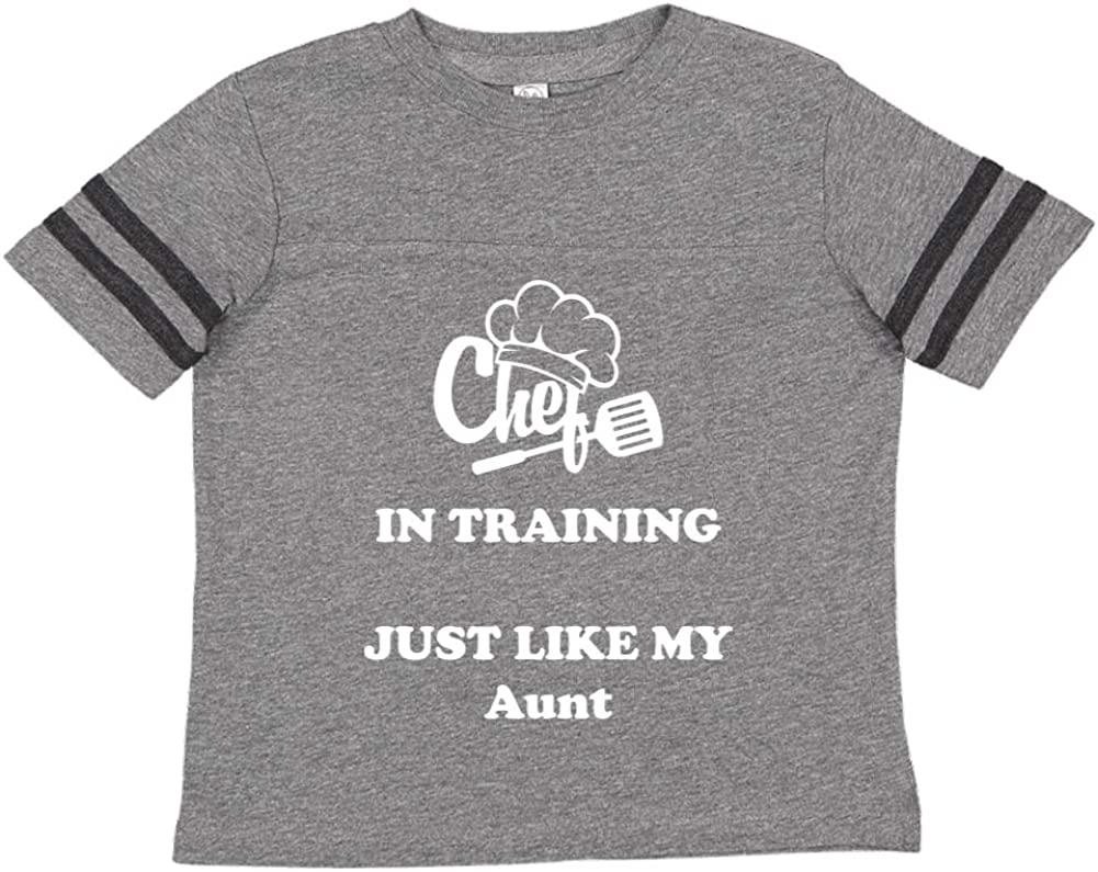 Toddler//Kids Sporty T-Shirt Chef in Training Just Like My Aunt