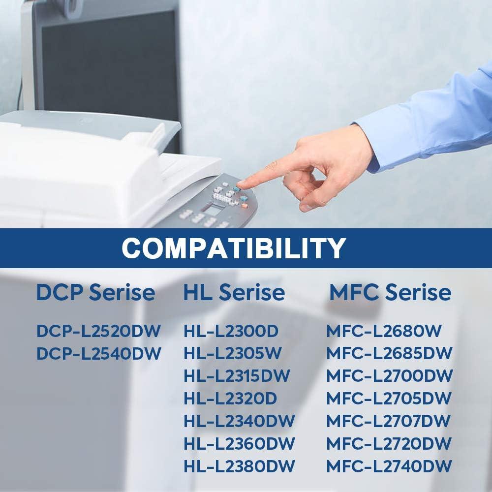 SMARTOMI 2 Cartucho de t/óner Negro de Alto Rendimiento Compatible con Cartuchos TN2320 para impresoras Brother HL L2300D L2320D L2340DW L2360DW L2365DW DCP L2500D L2520D L2540DN L2560DW MFC L2700DW