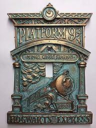 Hogwarts 9-3/4 (Harry Potter) Light Switch Cover (Aged Patina)