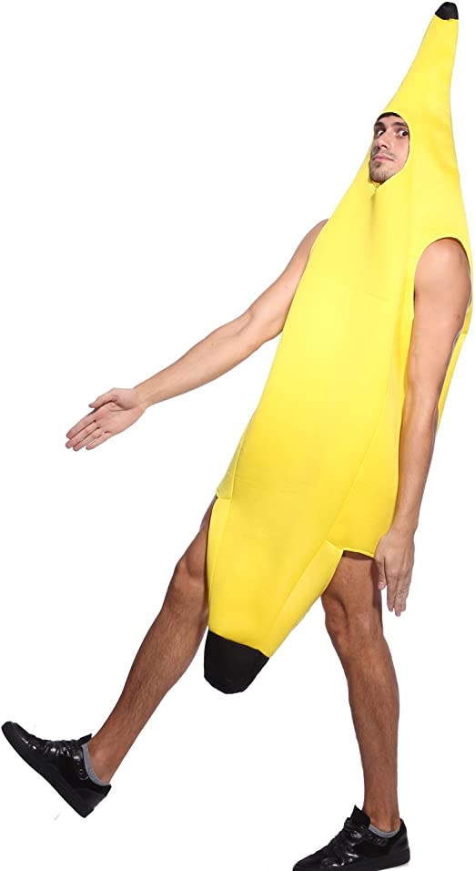 Maboobie Disfraz de Banana Classic para Adulto Disfraz Banana ...