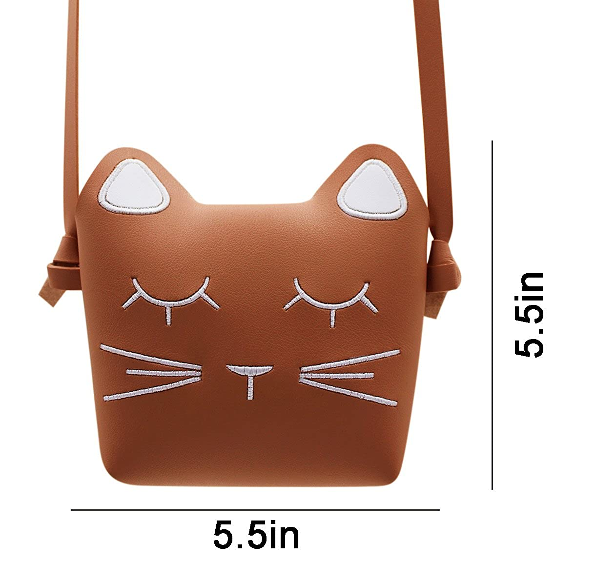 Little Girls Small Crossbody Purse Cute Cat Shoulder Bag Satchel Wallet for Toddlers