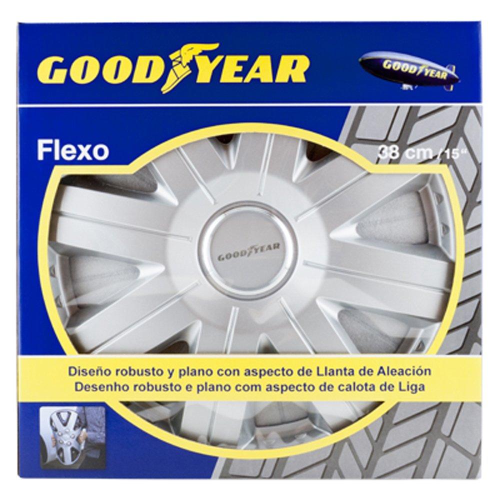 Good Year GOD9028 - Set de 4 Tapacubos Flexo 20, Plata, 15 Pulgadas: Amazon.es: Coche y moto