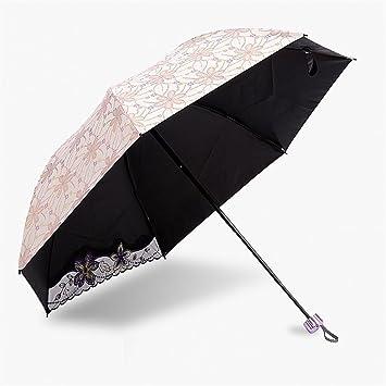 Bordado de encaje de la mujer anti-ULTRAVIOLETA sombrilla paraguas paraguas plegable regalo de la