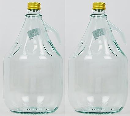 Unbekannt 2 Pieza 3L Gärballon con Rosca Botella Cristal Globo Aerostático Vino Entrega Gratuita