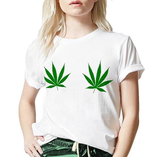f7b4ab74ad9e1 Pot Leaf Boob Shirt - Marijuana Leaf T-Shirt - Weed Shirt - 4/20 Shirt
