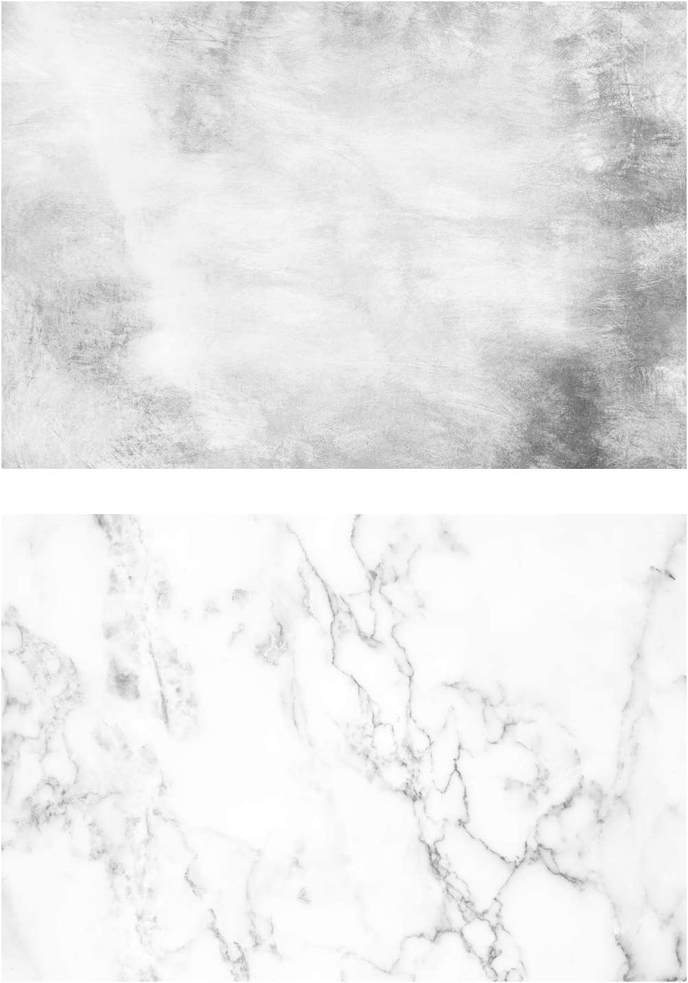 HUAYI Double Sided Pattern Background Cement Wall Marble Photo Backdrop Waterproof Paper for Food, Jewelry Seamless Paper Board Photography Studio Props DP-84 32.6X21.6 (83X55CM)