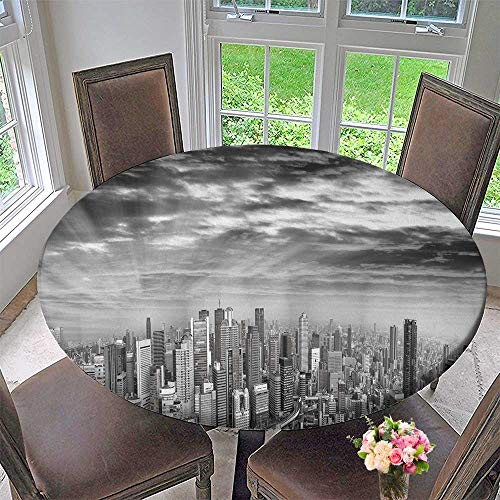 - PINAFORE HOME The Round Table Cloth amaz Panoramic Sunset Osaka Skyline Japan ads Removed for Birthday Party, Graduation Party 59