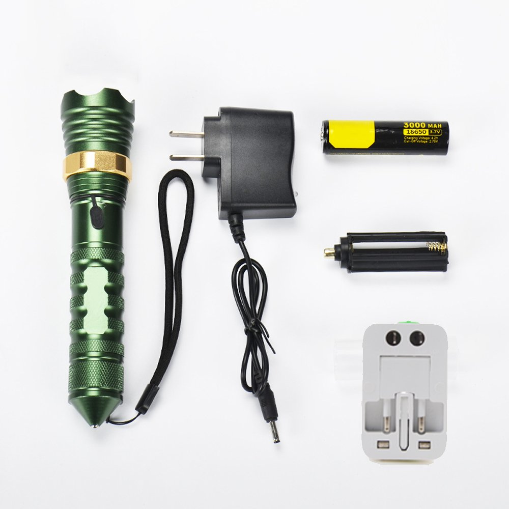 C FLY LED Rechargeable Flashlight Super Bright MultiFunction Home Outdoor Portable Flashlight (Edition   C)