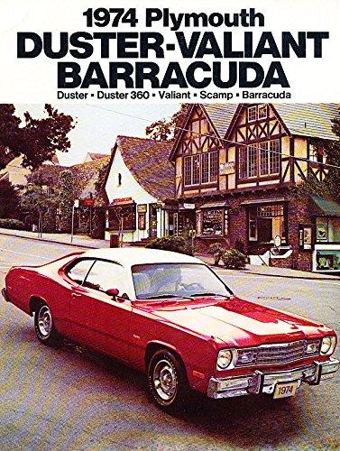 1974 Plymouth Duster Barracuda Cuda Original Car Sales Brochure Catalog
