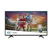 "Hisense Smart TV 55"", Televisor Ultra HD 4K, HDR, 4 x HDMI, 3 x USB 3.0, Color Negro con Aplicaciones como Netflix, Youtube, Vudu 55H6D (Reacondicionado Certificado)"
