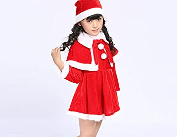 87bc2a037 Disfraces de Navidad para niños Disfraces de Navidad para niños y niñas  Disfraz de Navidad Rojo  Amazon.es  Deportes y aire libre