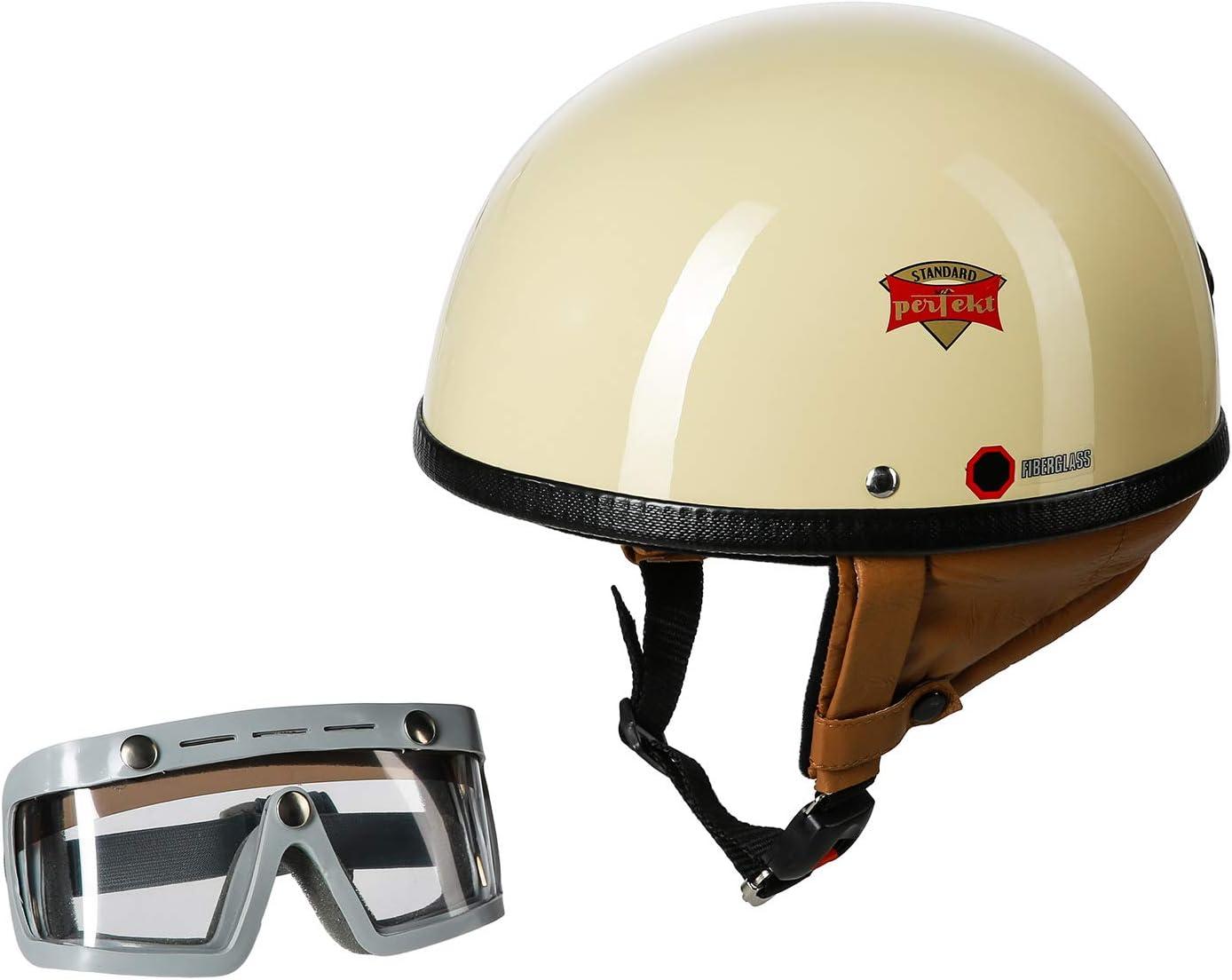 Set Schutzhelm Perfekt Modell P 500 Elfenbein Größe M 57 58cm Mit Ddr Schutzbrille Sportura Auto