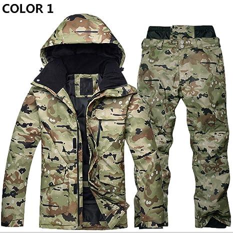 Conjunto de traje de esquí Ropa de invierno para hombres y ...