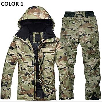 Conjunto de traje de esquí Ropa de invierno para hombres y mujeres al aire libre Impermeable