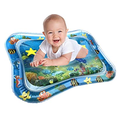 Inflatable Tummy Time Water Mat - Premium Baby Water Play Mat for Infants Fun Play Activity Centre for Sensory Baby Development - Perfect Baby Water Mat for Newborns 3 Months with Fun Toys: Kitchen & Dining
