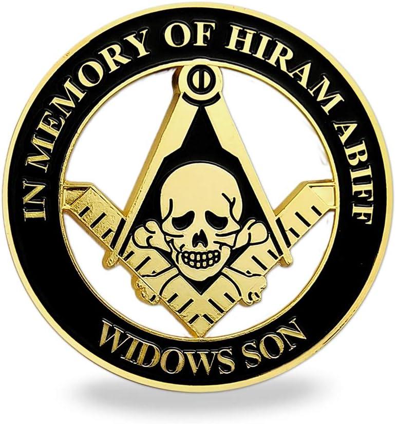 Masonic Widows Son Car Emblems Hiram Abiff Mason Decal