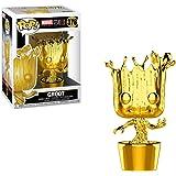 Funko Pop Marvel: Marvel Studios 10 - Groot (Gold Chrome) Collectible Figure, Multicolor