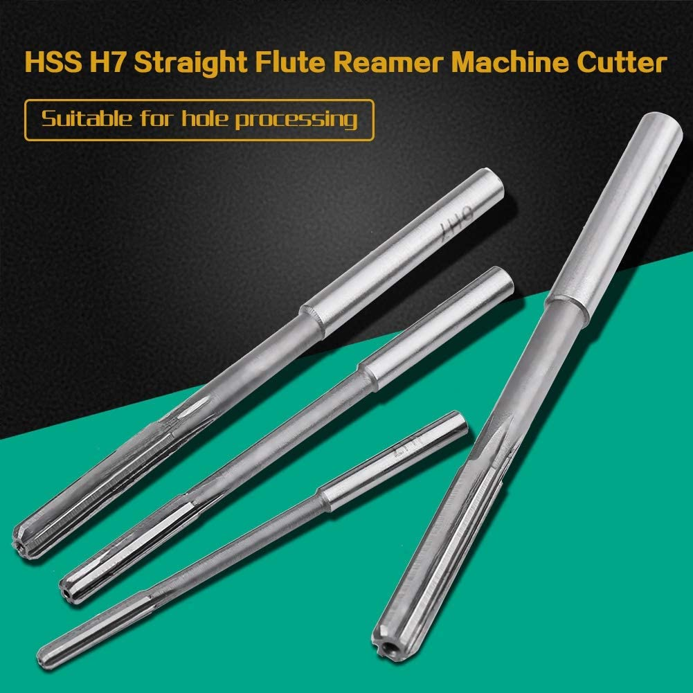 Milling Machine,etc. ,High Speed Steel,3//4//5//6//7//8//9//10//11//12mm,for Bore Machining 10Pcs HSS H7 Straight Flute Reamer Machine Cutter Installed in Drilling Machine