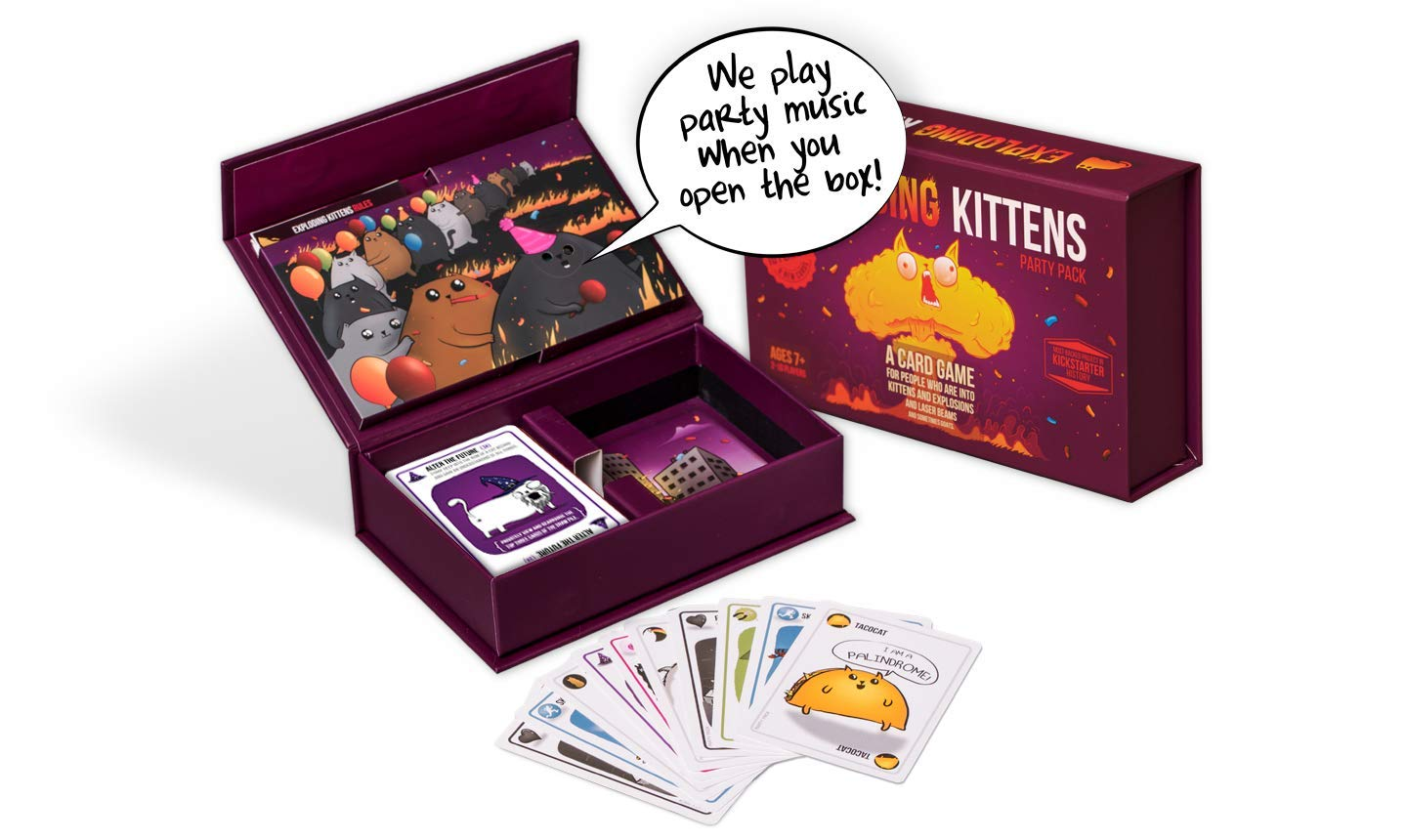 Exploding Kittens Party Pack Game - Play Exploding Kittens with up to 10 Players! by Exploding Kittens LLC (Image #1)