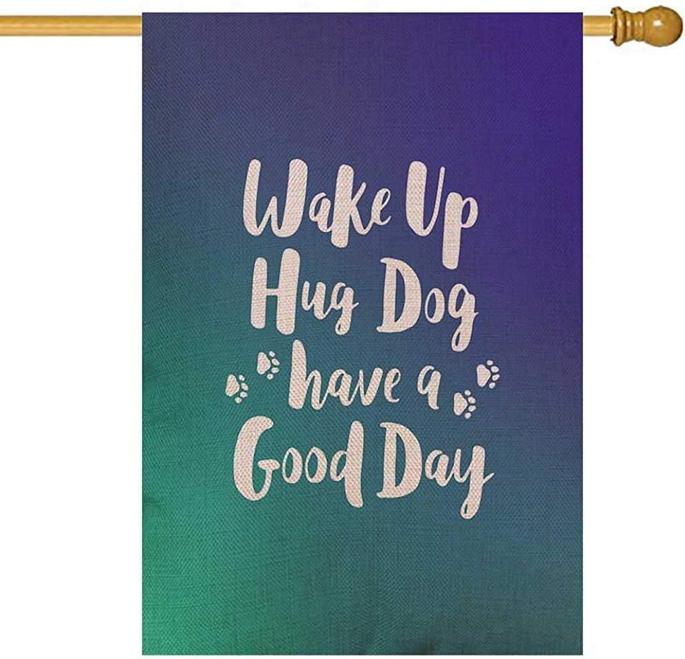 Overlooked Shop Banderas Decorativas al Aire Libre Colección de Letras escritas para Perros Cita de Pincel Acerca del Conjunto de Frases Refrán Motivacional para Mascotas