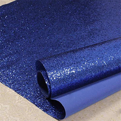 Royal Blue Wallpaper - Real Chunky Glitter Wallpaper ,Grade 3 bling Wallcovering ,Rough Surface Sparkly Glitter Fabric. (Royal Blue)