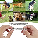 ONSON Dog Whistle to Stop Barking Barking Control Ultrasonic Patrol Sound Repellent Repeller - Adjustable Pitch in Black Color with Free Premium Quality Lanyard Strap