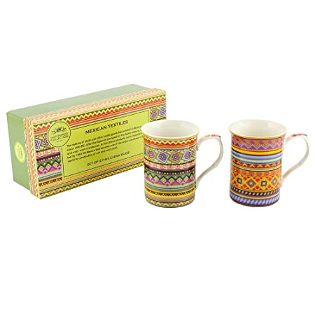 Leonardo LP92370A Mexican Textile Castle Mug Set of 2  sc 1 st  Amazon UK : mexican tableware uk - pezcame.com