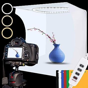 Photo Shooting Tent Size: 40cm X 40cm X 40cm Professional Photographic Equipment Red, Orange, Blue, White, Black 40cm Folding Studio Tent Box Photo Softbox Portable Kits With 5 Colors Backdrops