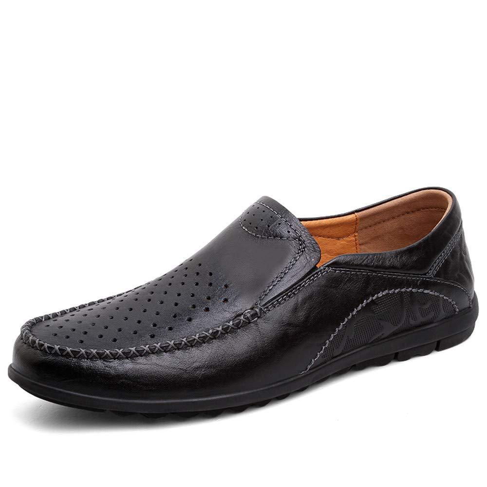 Yajie schuhe, Männer Fahren Loafers Casual einfache Retro Mokassins ox Leder komfortable Boot Mokassins Retro (Hohl Optional) (Farbe : Hohle Schwarz, Größe : 42 EU) Hohle Schwarz 85afdc