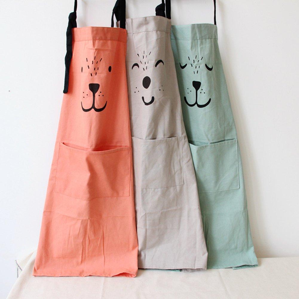Grembiule Da Cucina Per Bambini Fai Da Te.Kid Ofvsdhftgj Animale Stampa Cotone Lino Casa Grembiule Da