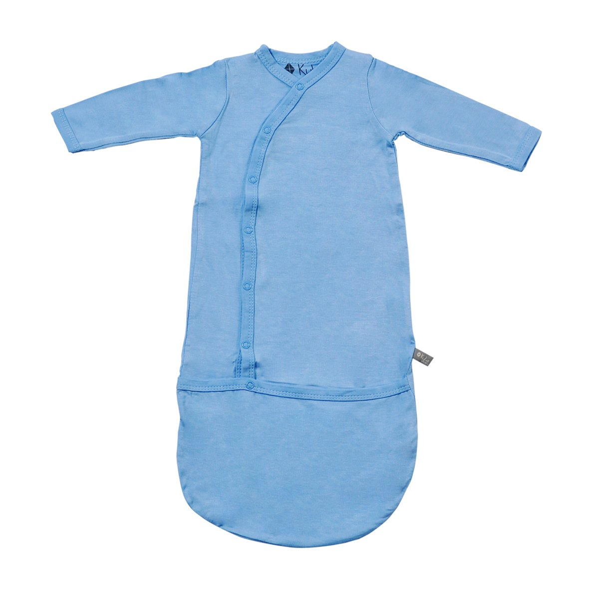 Kyte BABY Bundlers - Baby Sleeper Gowns Made of Soft Organic Bamboo Rayon Material - 0-6 Months - Solid Colors